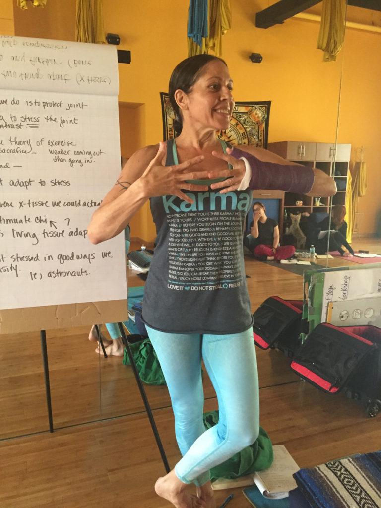 Lizzy Hoffmann Yoga Teacher Trainier and Director of Urban Bliss Yoga